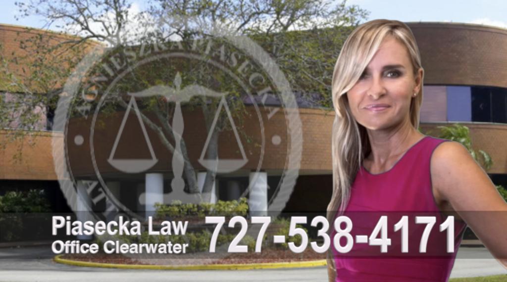 Attorney, Lawer, Polish, Agnieszka Piasecka, Aga Piasecka, Clearwater, Florida, Office address