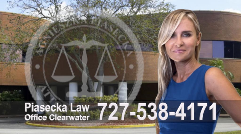 Attorney, Lawyer, Polish, Agnieszka Piasecka, Aga Piasecka, Clearwater, Florida, Office address, Polski Prawnik Floryda